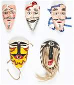 5 Vintage Mexican Masks