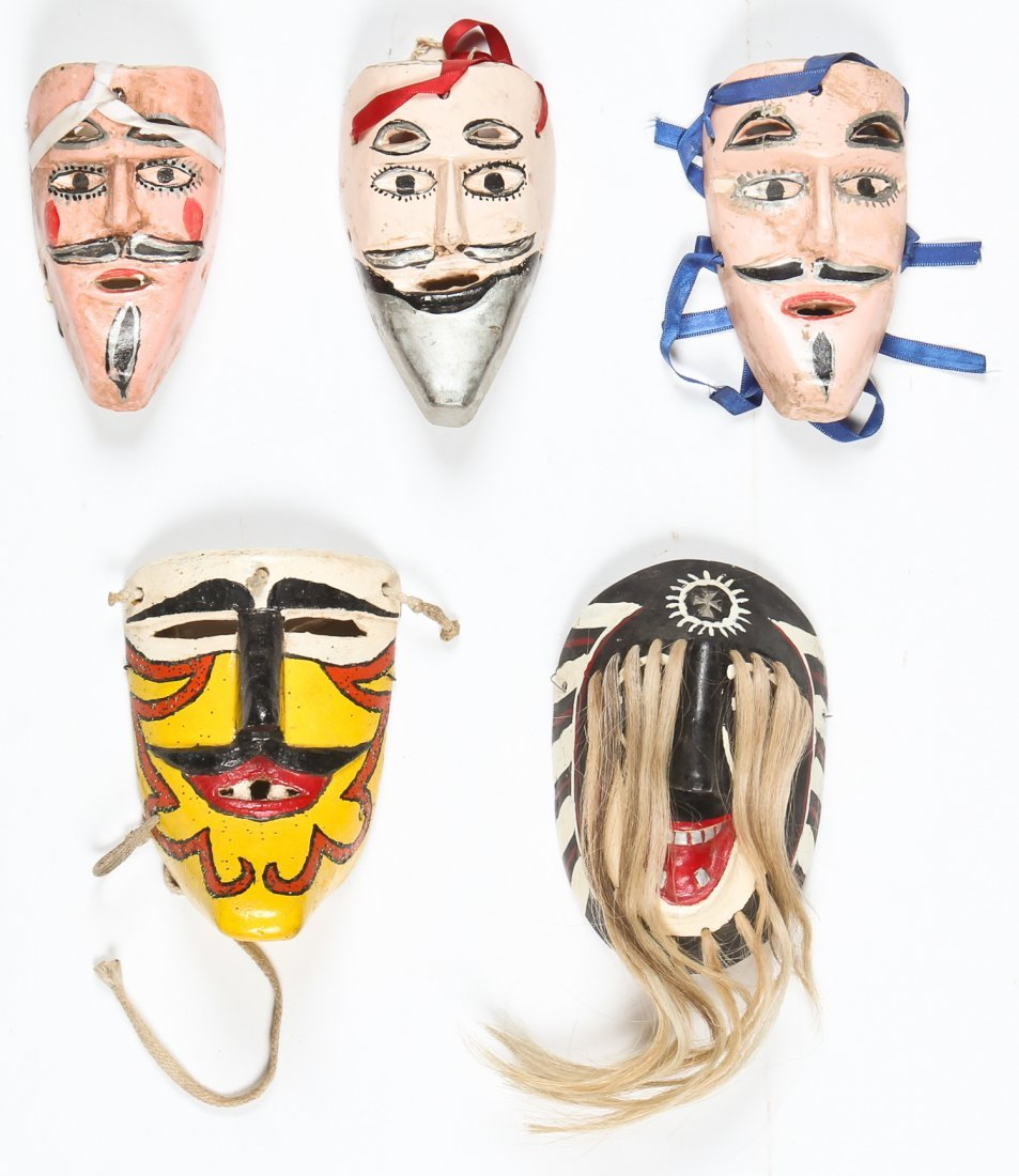 5 Vintage Mexican Masks
