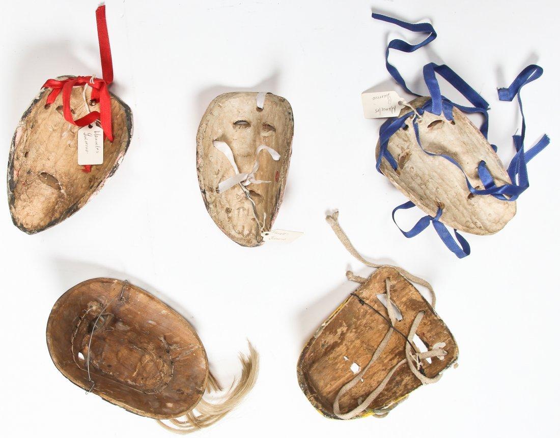 5 Vintage Mexican Masks - 2