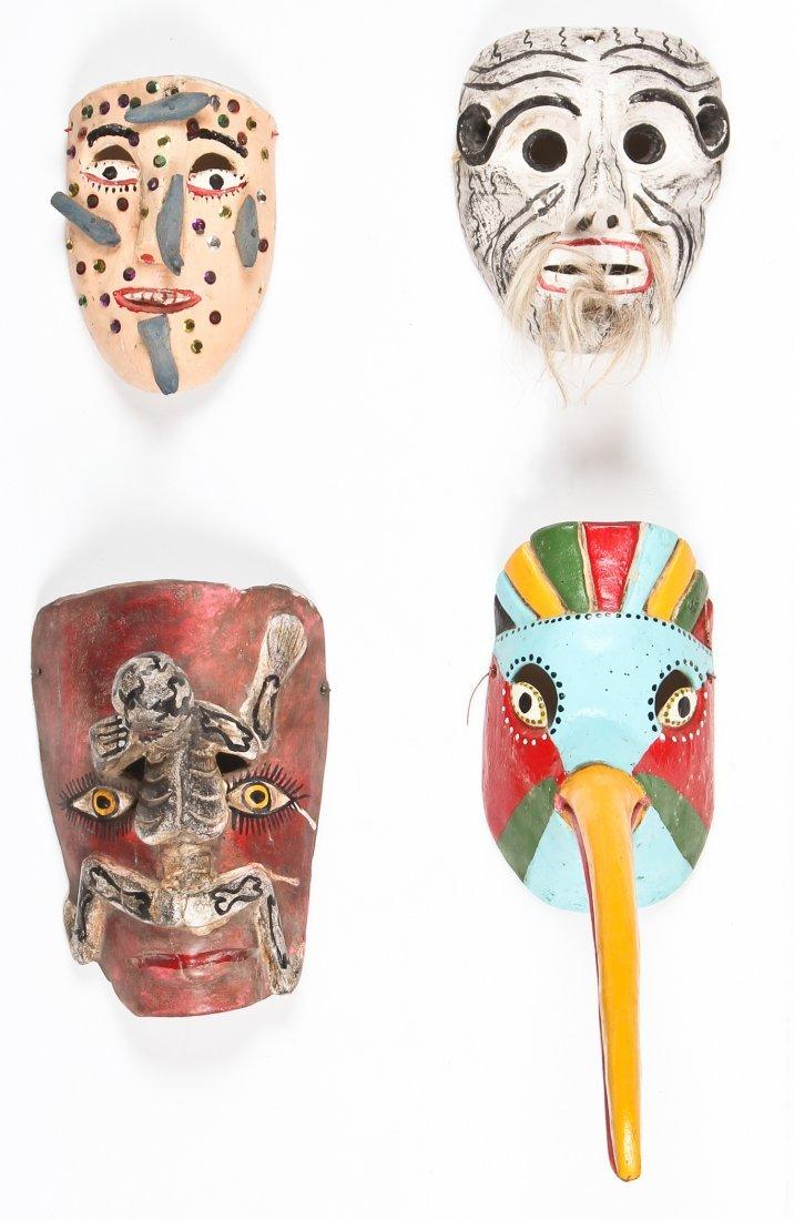 4 Vintage Mexican Masks