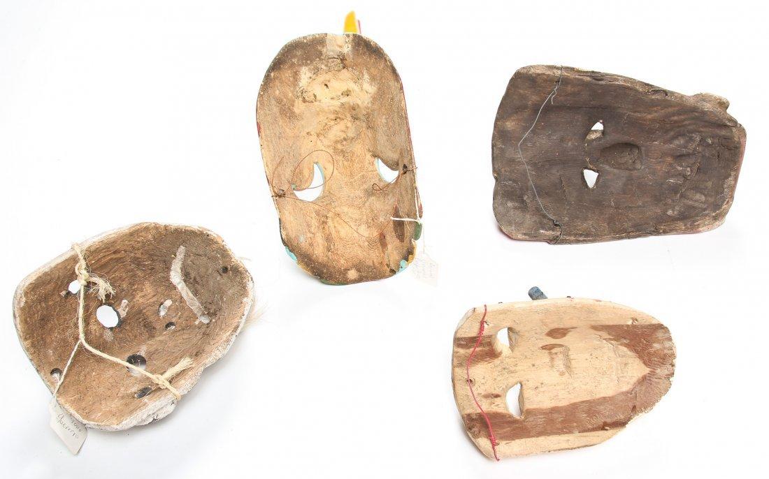 4 Vintage Mexican Masks - 2