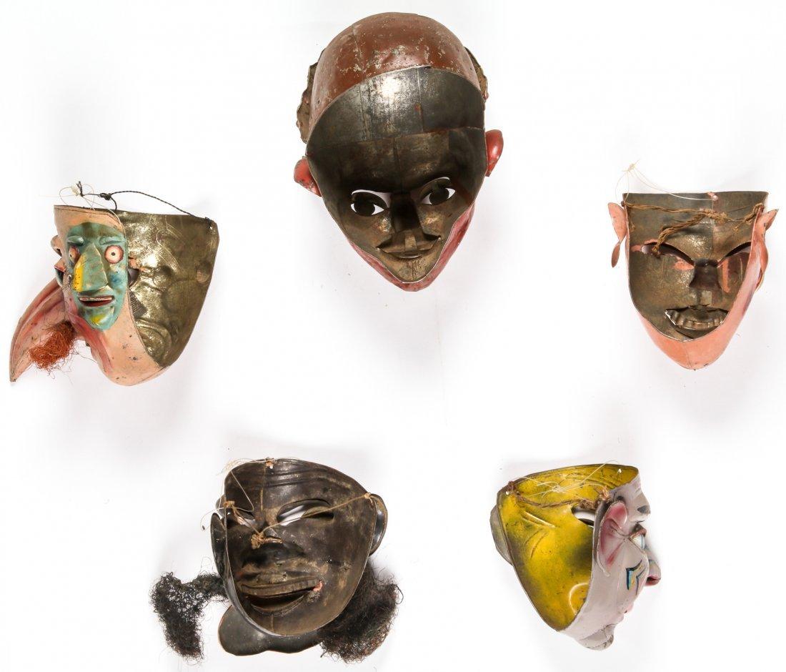 5 Vintage Bolivian Carnival/Dance Masks (1978) - 6