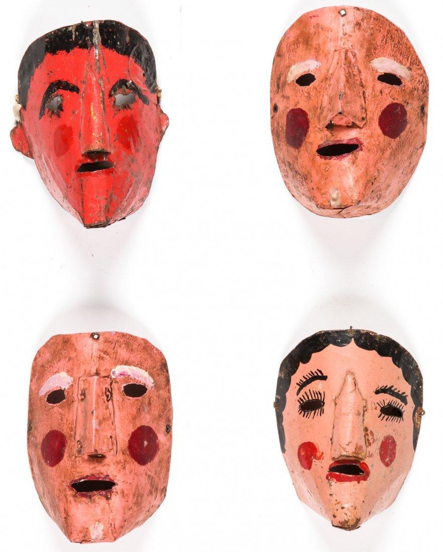 4 Vintage Bolivian Carnival Masks