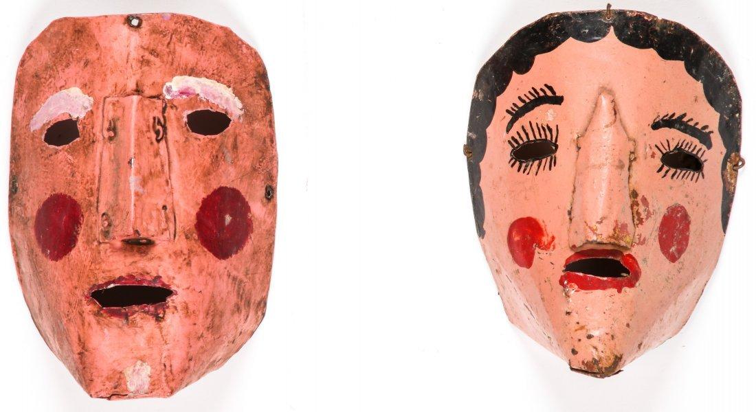 4 Vintage Bolivian Carnival Masks - 2