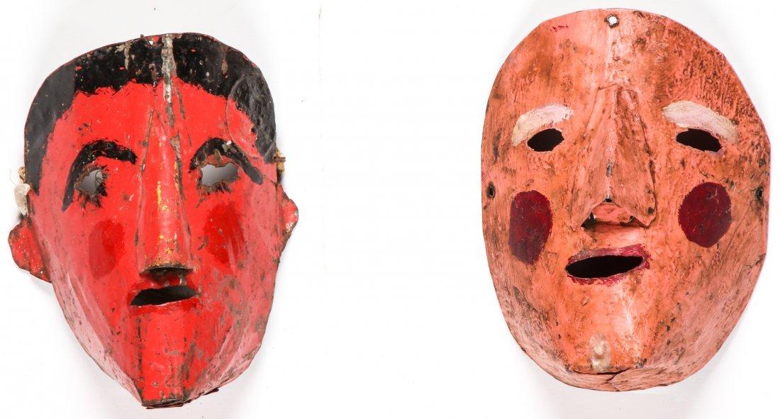 4 Vintage Bolivian Carnival Masks - 3