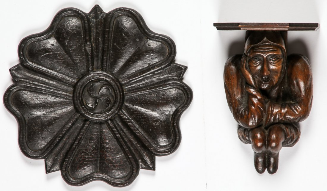 16th C Carved Oak Artifacts