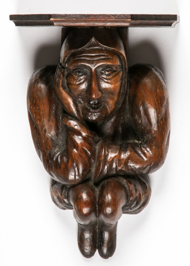 16th C Carved Oak Artifacts - 3
