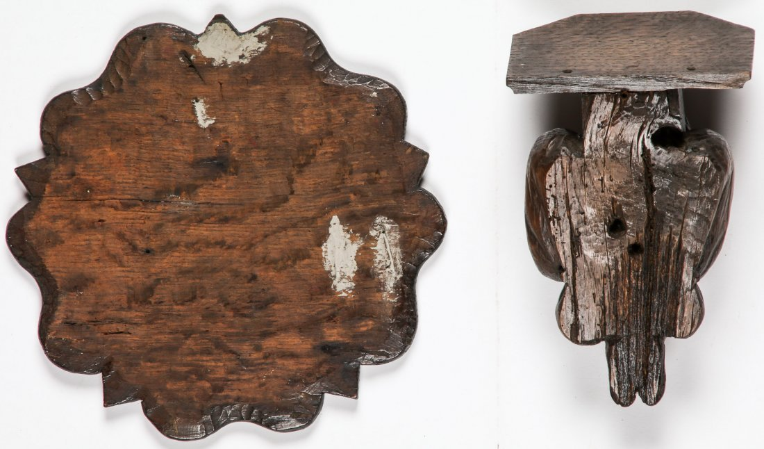 16th C Carved Oak Artifacts - 4