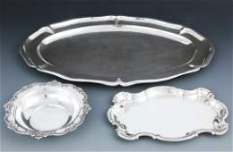 3 Sterling Silver Trays