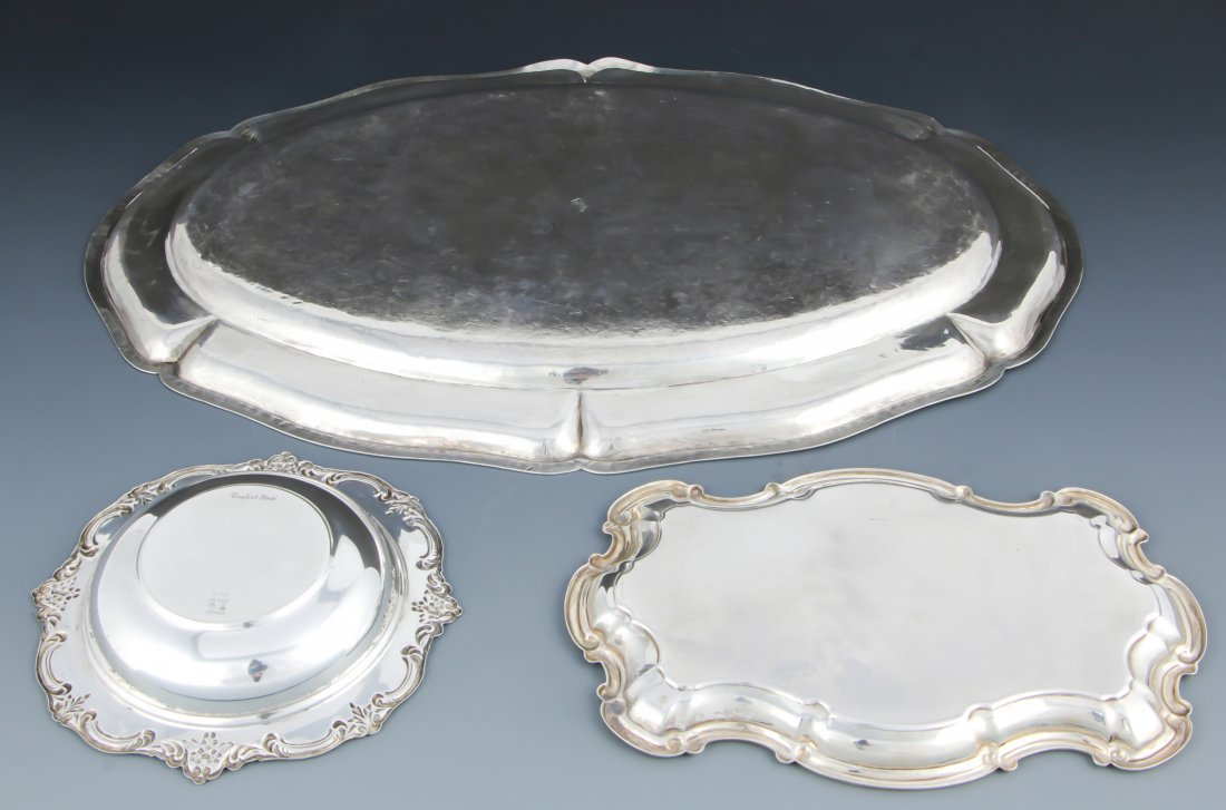 3 Sterling Silver Trays - 2