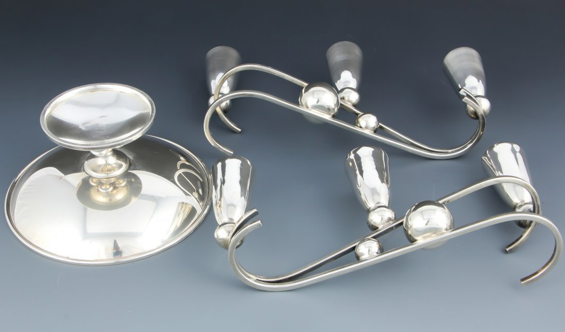 Modern 3 Pc Sterling Table Accessories Suite - 2