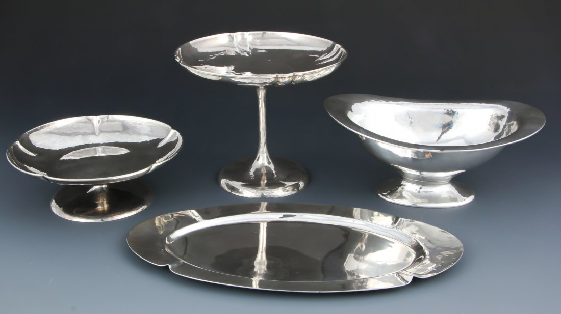 4 Handwrought Sterling Silver Table Wares