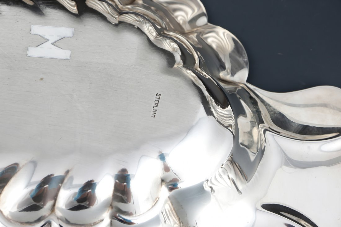 3 Shell Form Silver Table Wares - 5