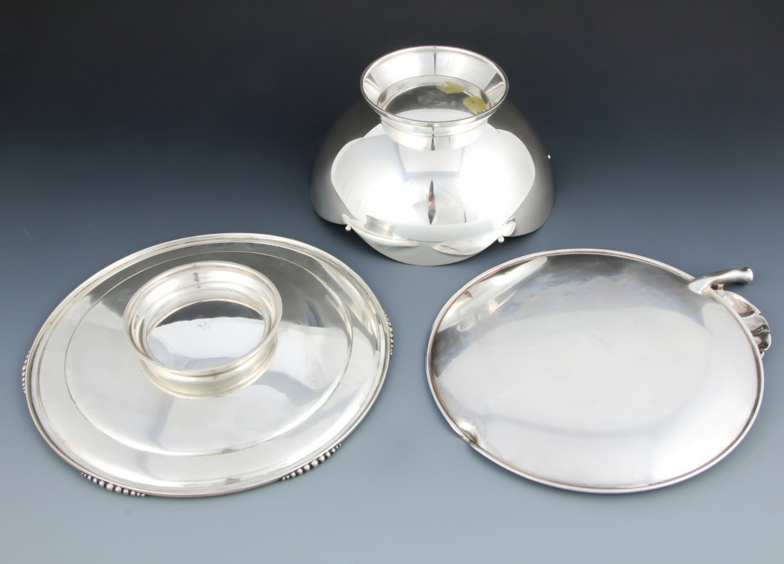 3 Silver Table Wares - 2