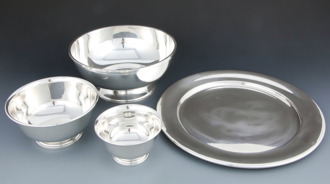 4 American Sterling Silver Table Wares