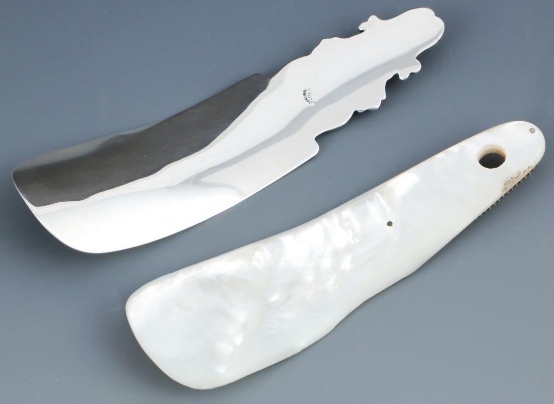 2 Antique Shoehorns - 2