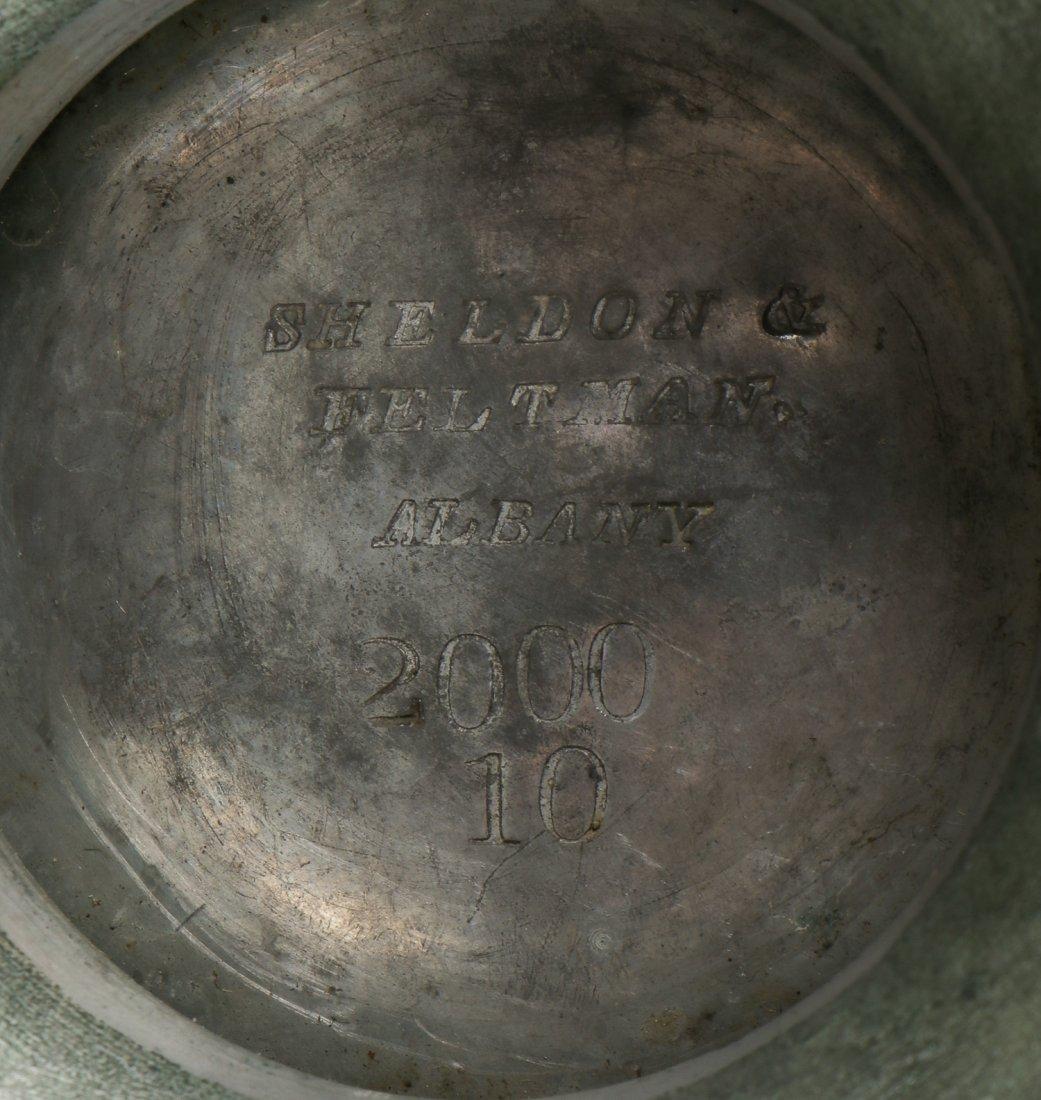 2 Antique Pewter Pots - 4