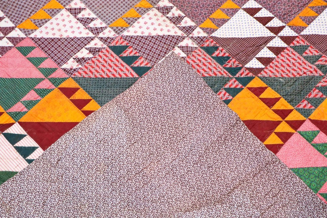 3 Early American Antique Pieced Quilts - 3