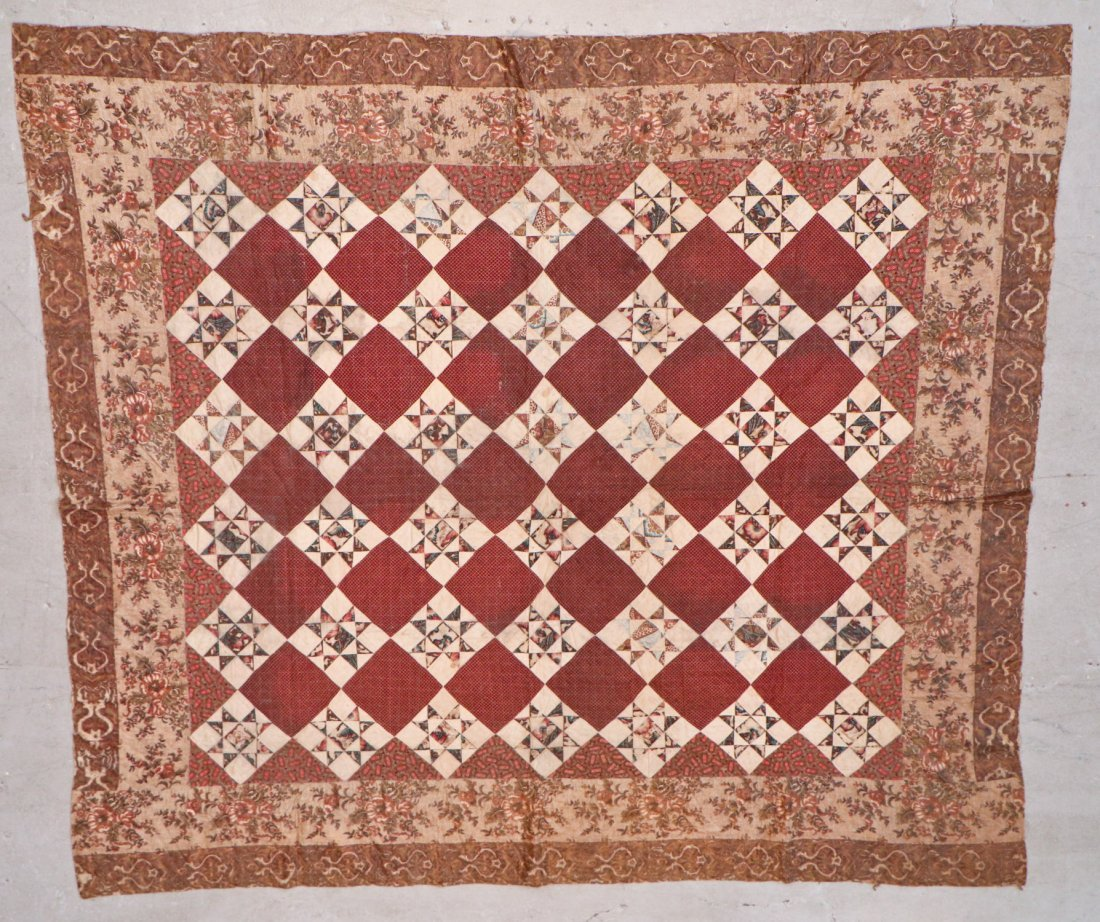 3 Early American Antique Pieced Quilts - 4