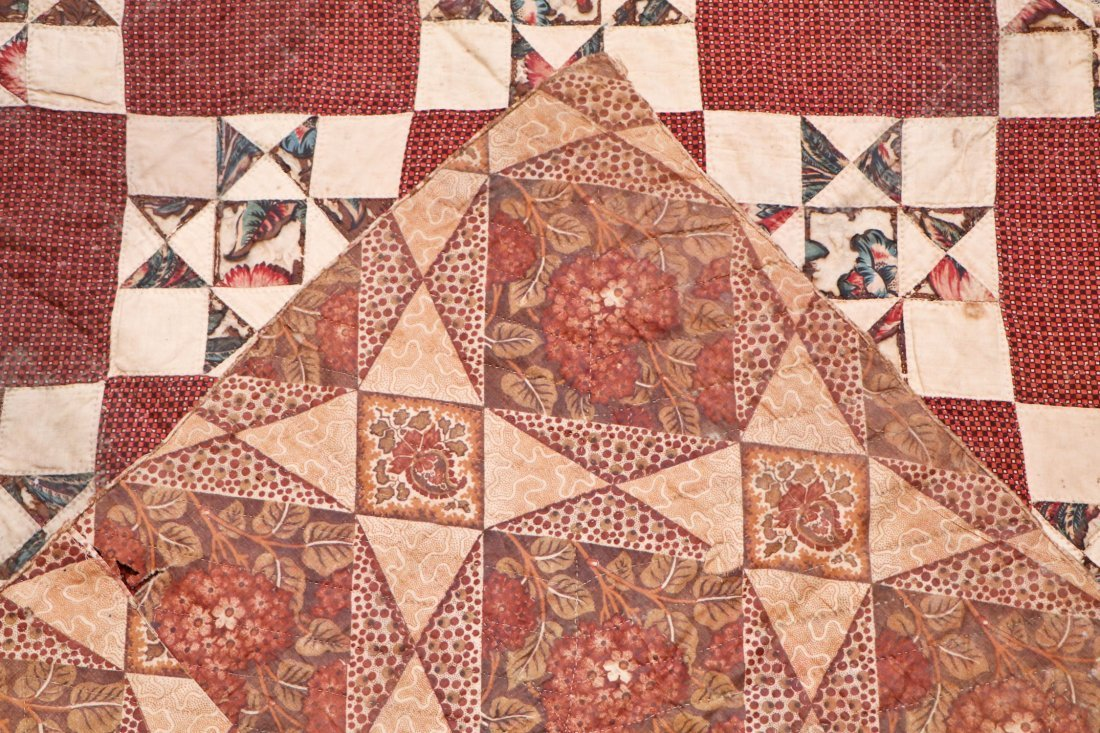 3 Early American Antique Pieced Quilts - 6