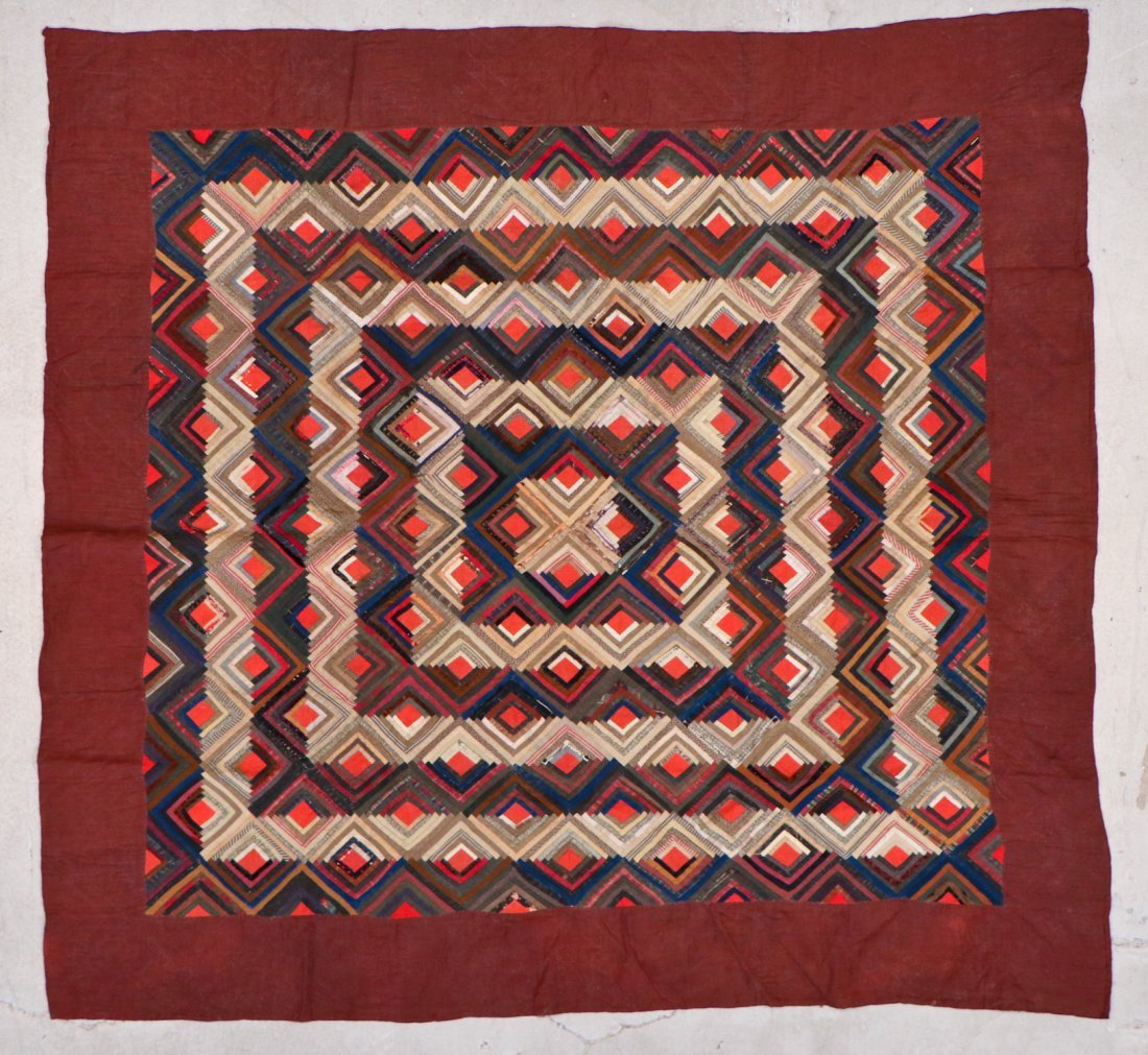 3 Early American Antique Pieced Quilts - 7