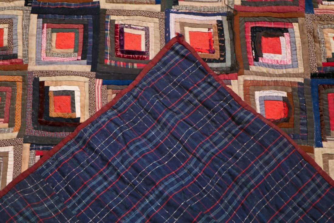 3 Early American Antique Pieced Quilts - 9