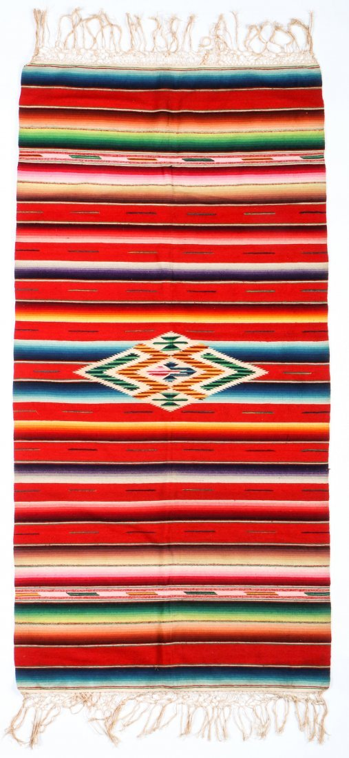 Very Fine Old Mexican Saltillo Serape, c. 1930
