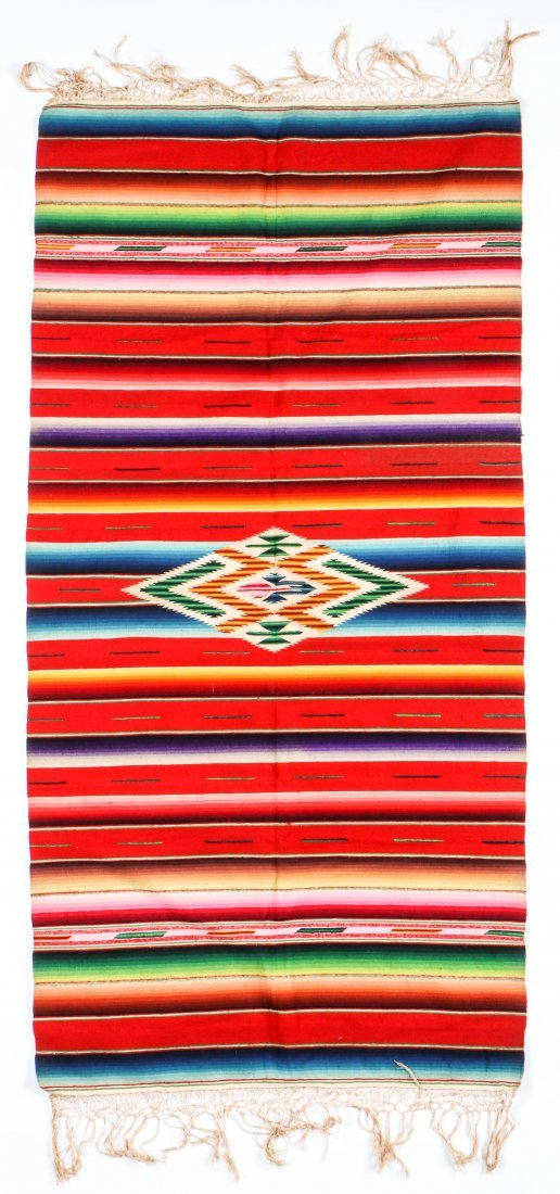 Very Fine Old Mexican Saltillo Serape, c. 1930 - 3