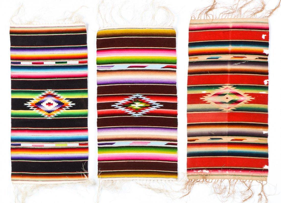 Lot of 5 Vintage/Antique Mexican Saltillo Style - 2