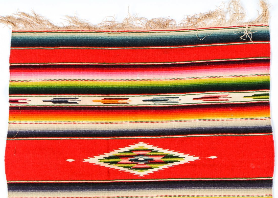 Lot of 5 Vintage/Antique Mexican Saltillo Style - 3