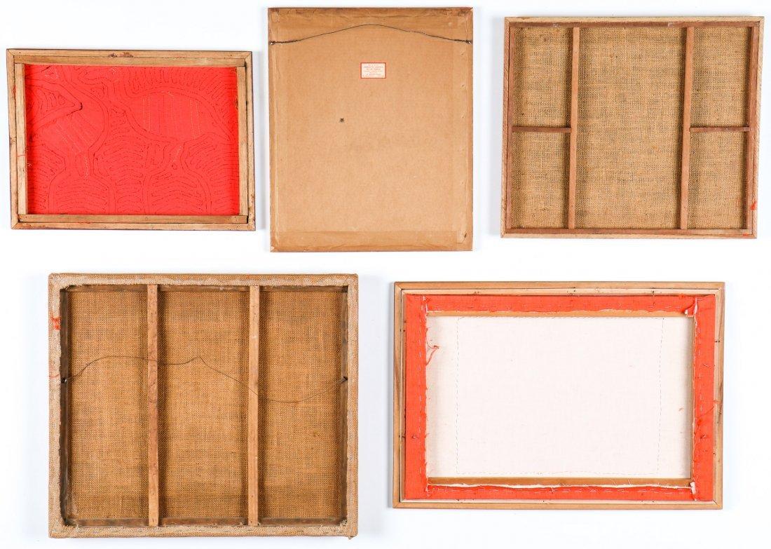 5 Framed Vintage Kuna Molas - 2