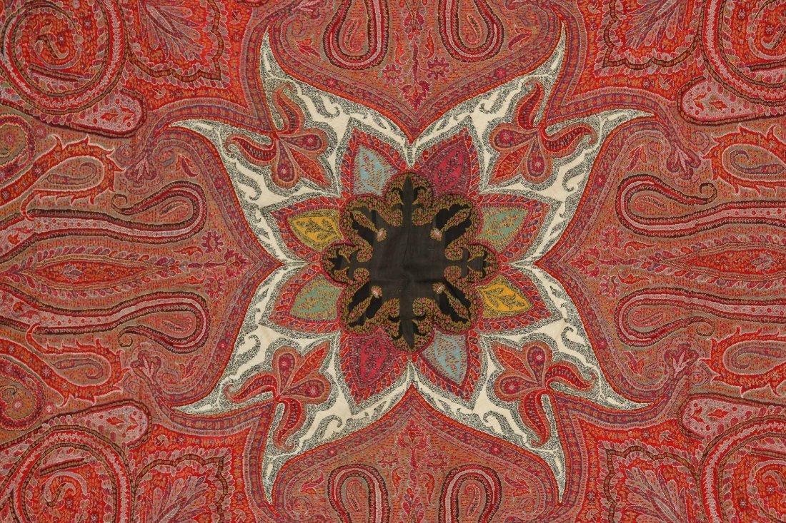 "Fine 19th c. Kashmir Shawl, India: 78"" x 80"" (198 x 203 - 2"
