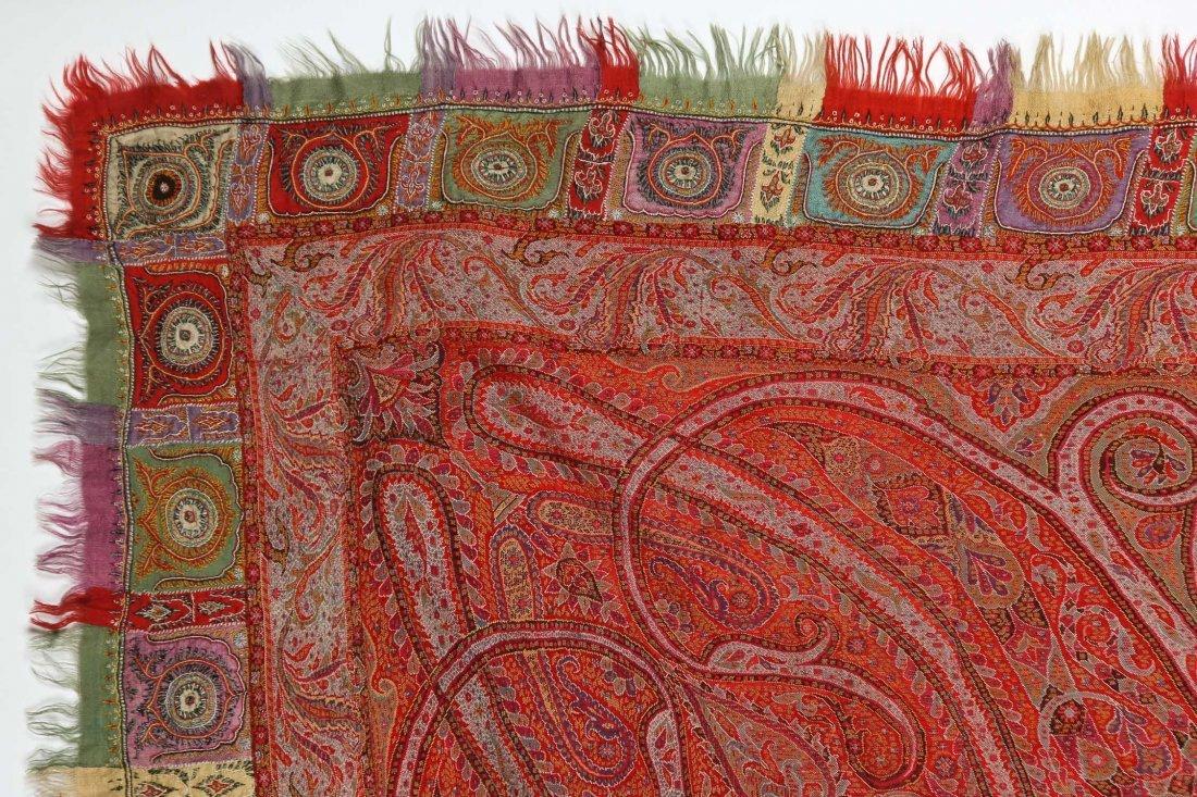 "Fine 19th c. Kashmir Shawl, India: 78"" x 80"" (198 x 203 - 3"