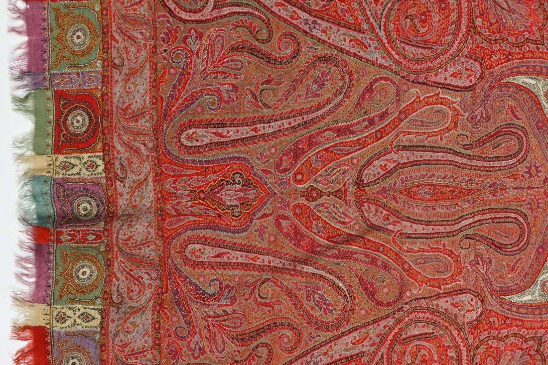 "Fine 19th c. Kashmir Shawl, India: 78"" x 80"" (198 x 203 - 4"