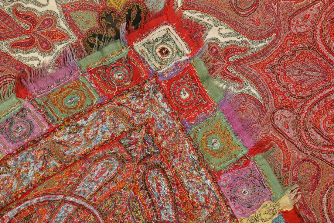 "Fine 19th c. Kashmir Shawl, India: 78"" x 80"" (198 x 203 - 5"