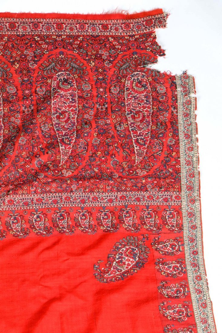 "Fine Old Persian Shawl: 54"" x 120"" - 3"