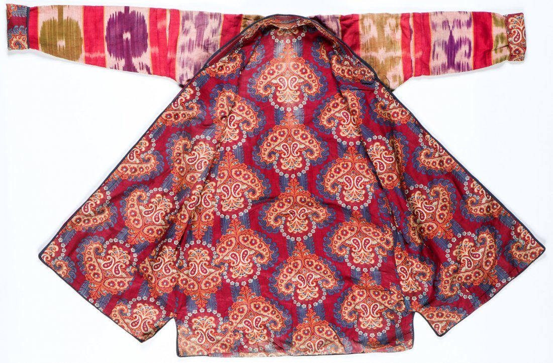 Antique Central Asian Silk Ikat Kaftan - 3