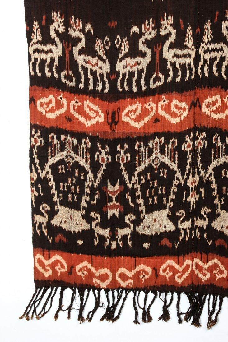 """Old Sumba ikat Hinggi Textile: 48"""" x 92"""" - 2"""