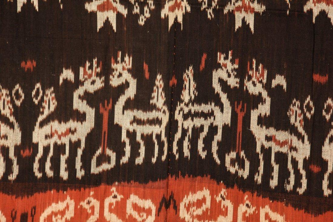 """Old Sumba ikat Hinggi Textile: 48"""" x 92"""" - 3"""