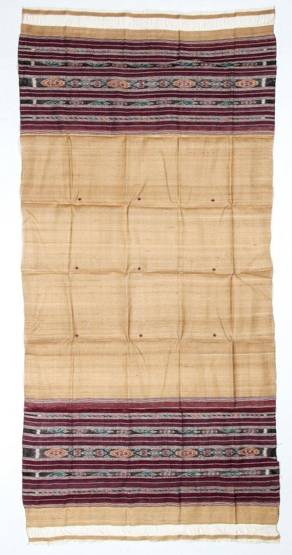 """Orissan Raw Silk Indian Sari: 36"""" x 75"""""""