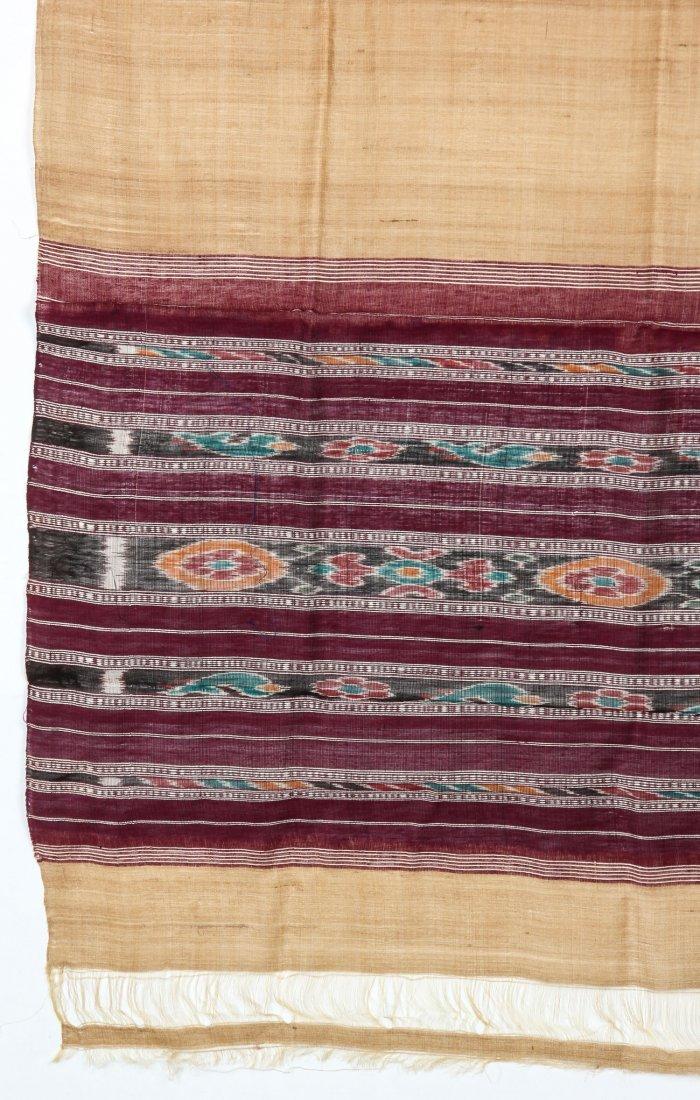 """Orissan Raw Silk Indian Sari: 36"""" x 75"""" - 2"""