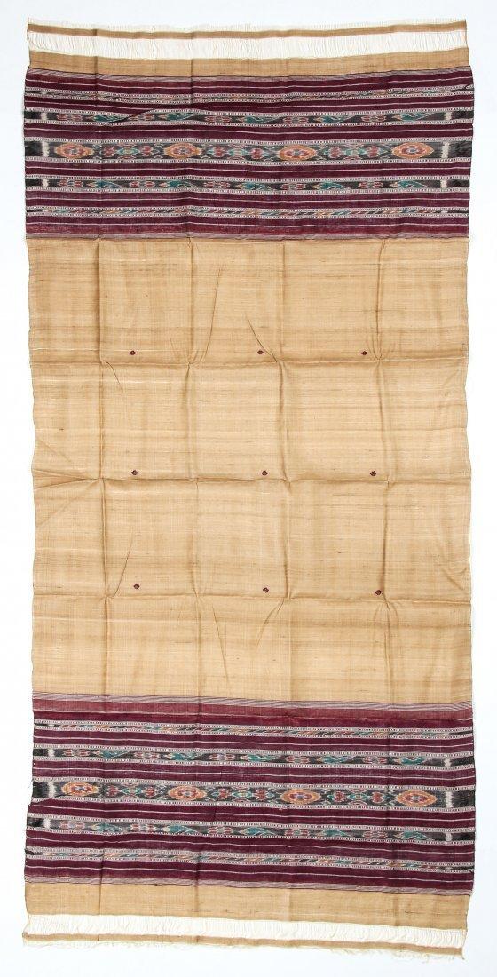"""Orissan Raw Silk Indian Sari: 36"""" x 75"""" - 4"""