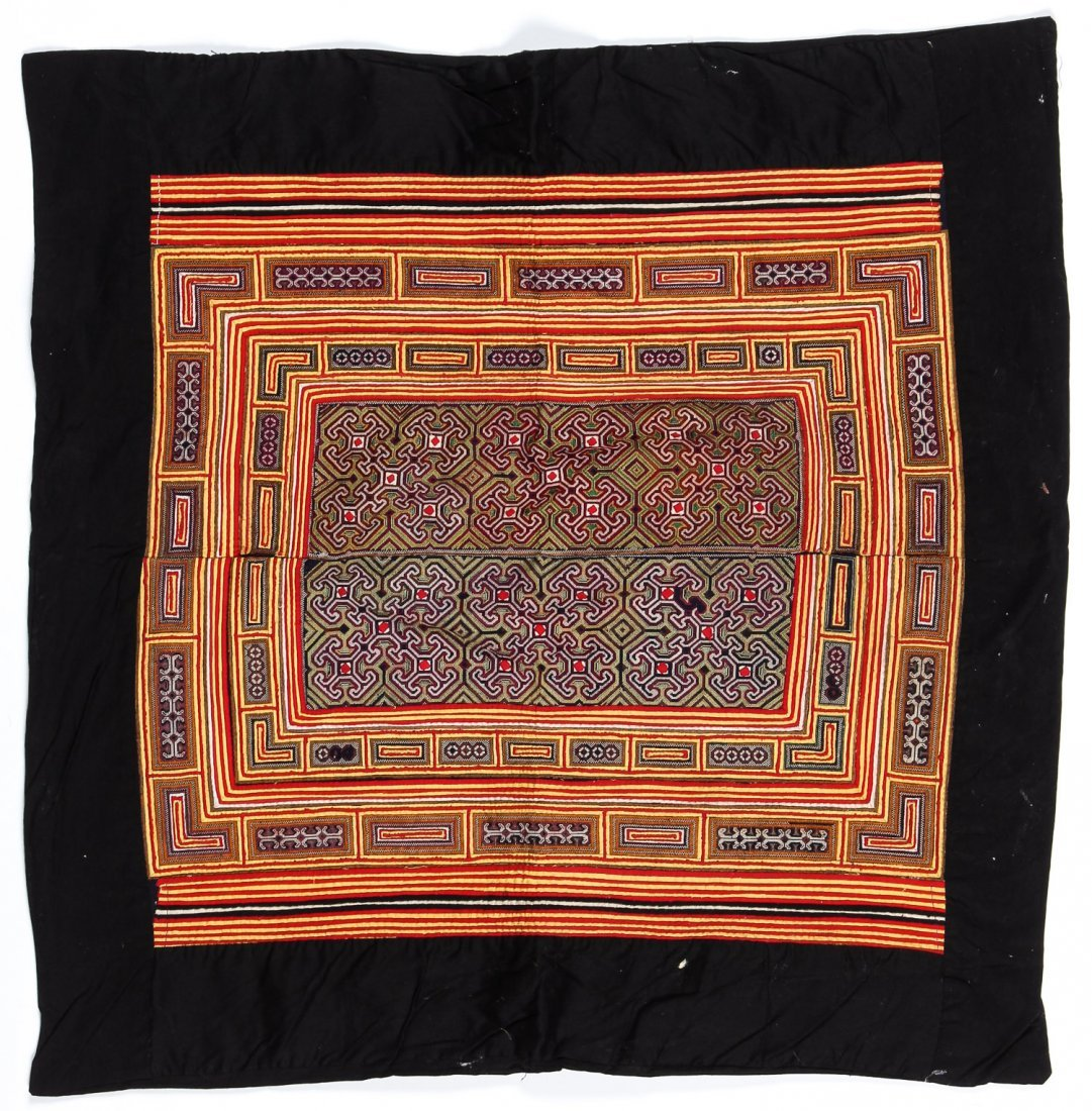 2 Embroidered S. China Minority Textiles - 2