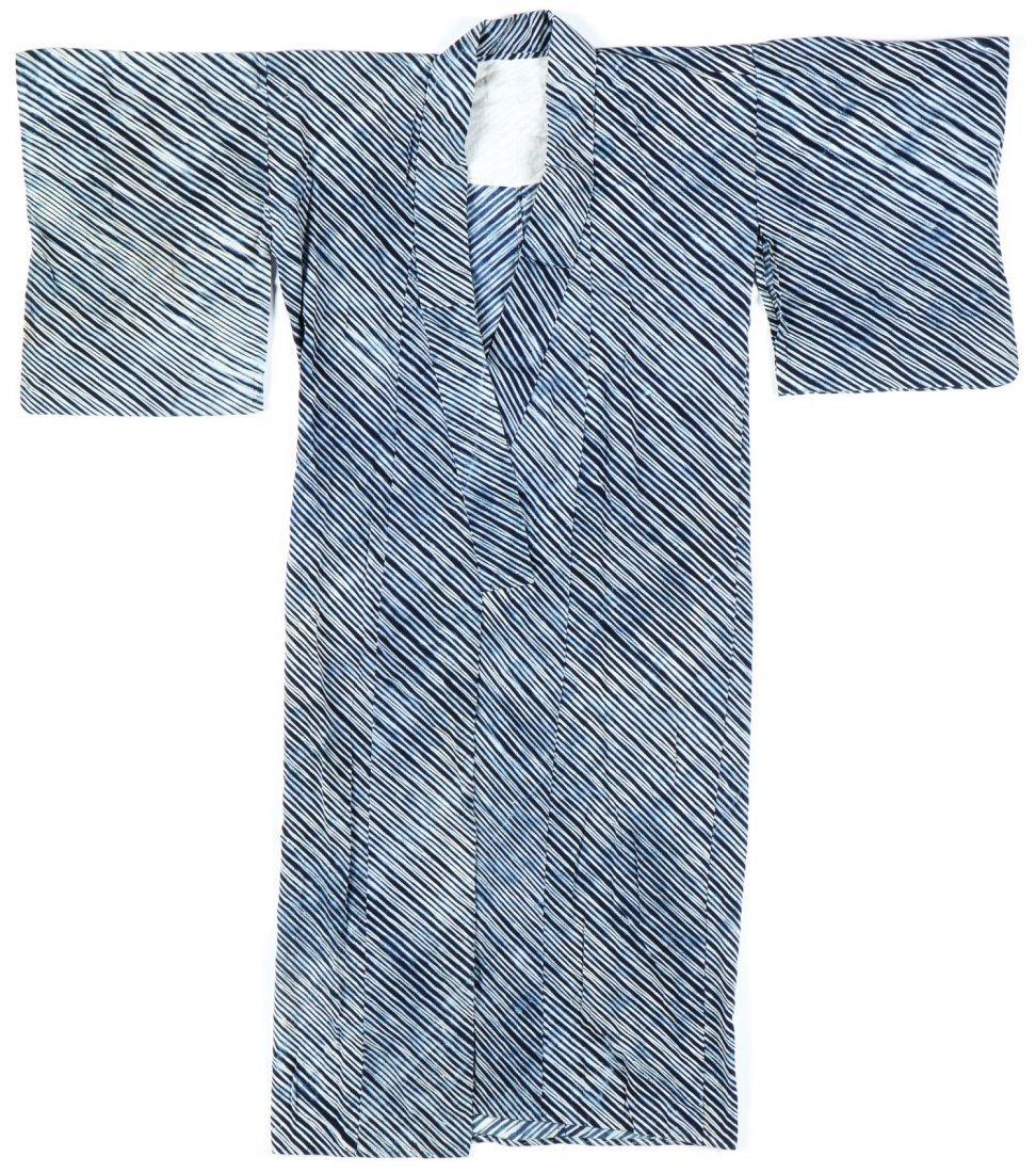 Vintage Indigo Dyed Japanese Kimono