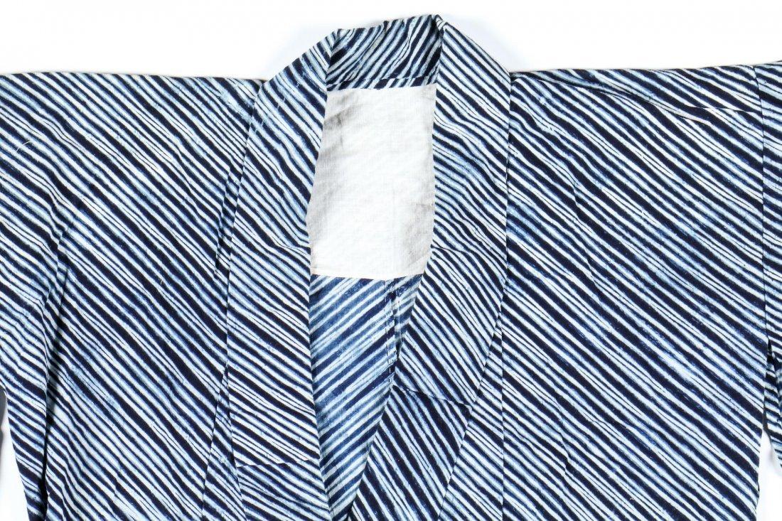 Vintage Indigo Dyed Japanese Kimono - 2