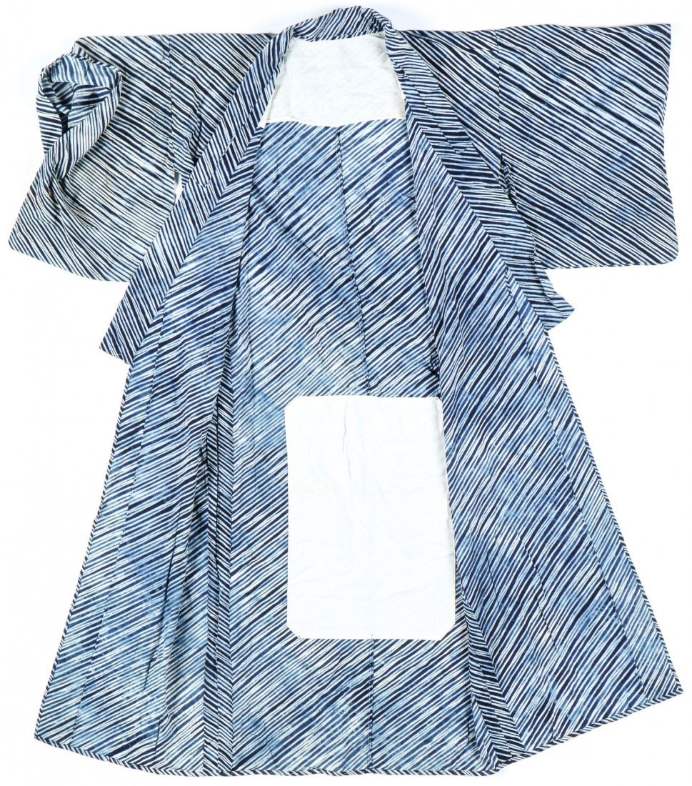 Vintage Indigo Dyed Japanese Kimono - 3
