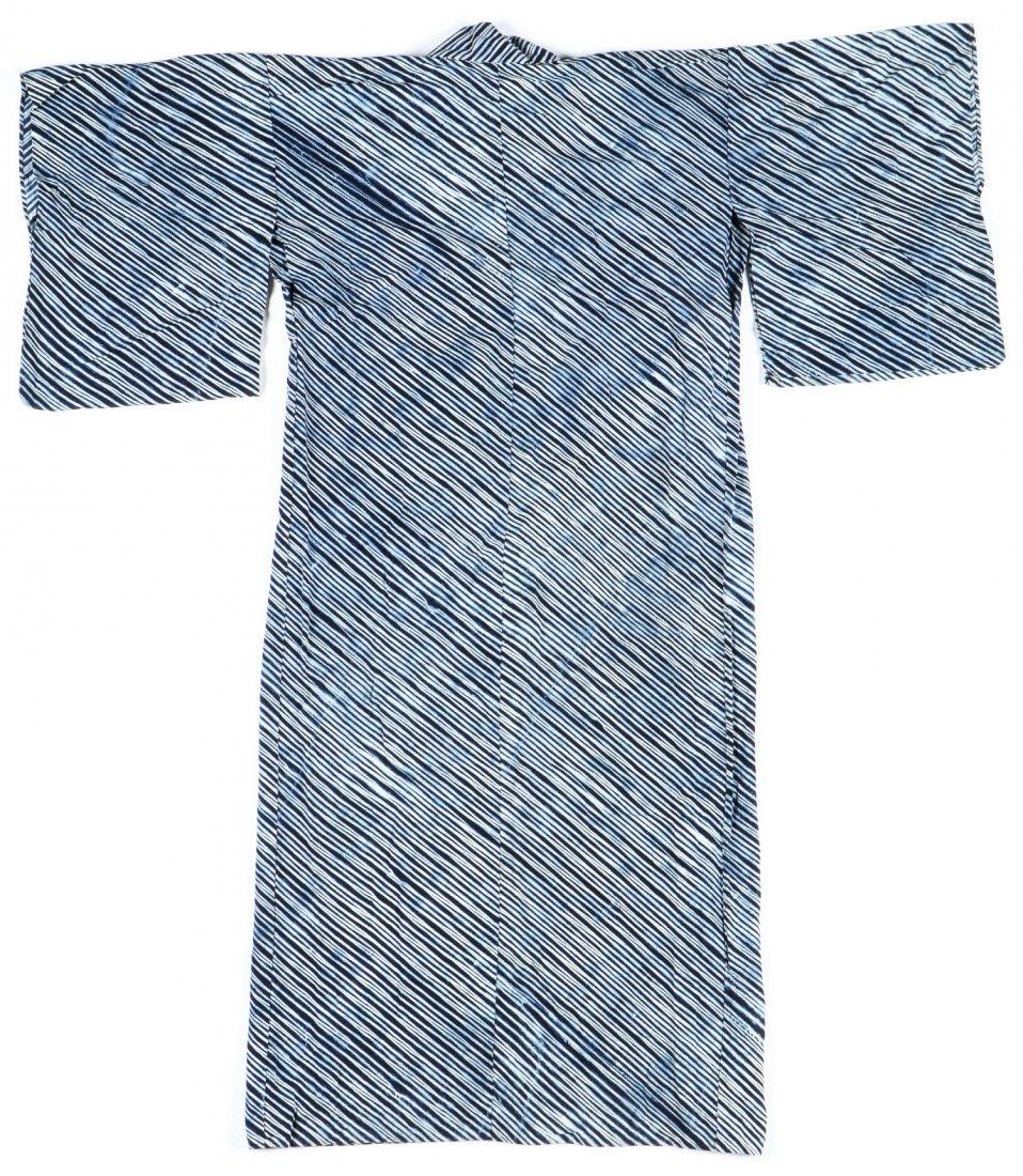 Vintage Indigo Dyed Japanese Kimono - 4