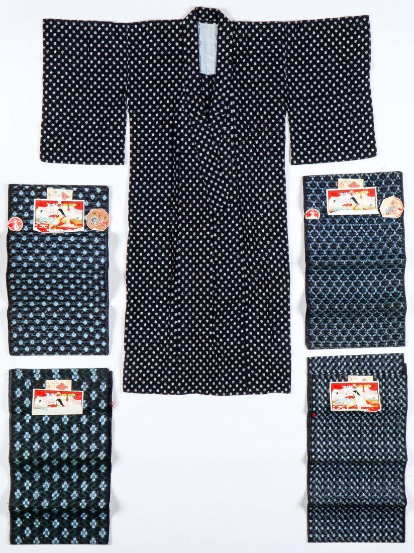 Lot of Japanese Ikat/Kasuri Textiles
