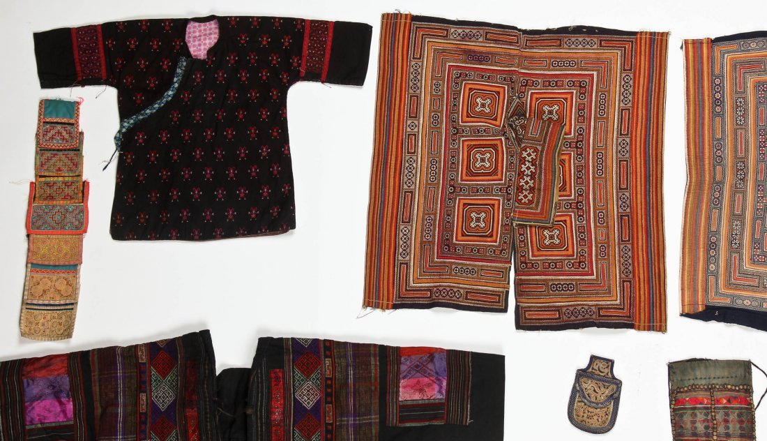 Group of 15 Chinese Minority Textiles - 2