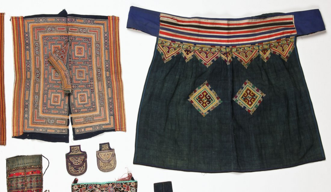 Group of 15 Chinese Minority Textiles - 3